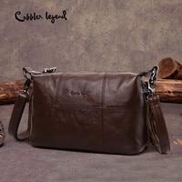 Cobbler Legend Hobo Women Bag Female Ladies' Genuine Leather Tassel Handbag Shoulder Crossbody Bags Small Tote Bag Purse