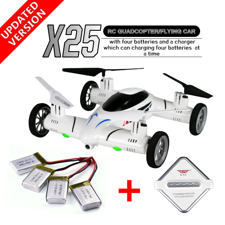 RC Model SY X25 3D RC Airplane 2.4G 8CH 6-Axis 4port-Charger Plane Model Roll High Speed RC Quadcopter Flying Car RTF