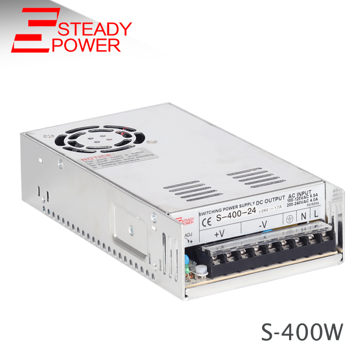 Hot sale 110 vac 220 vac to 24 vdc regulated 400w industrial switching power supply 24v 16.6a led driver home furnishings time relay h5cnycnm h5cn 220 vac ydnm 24 vdc brand new