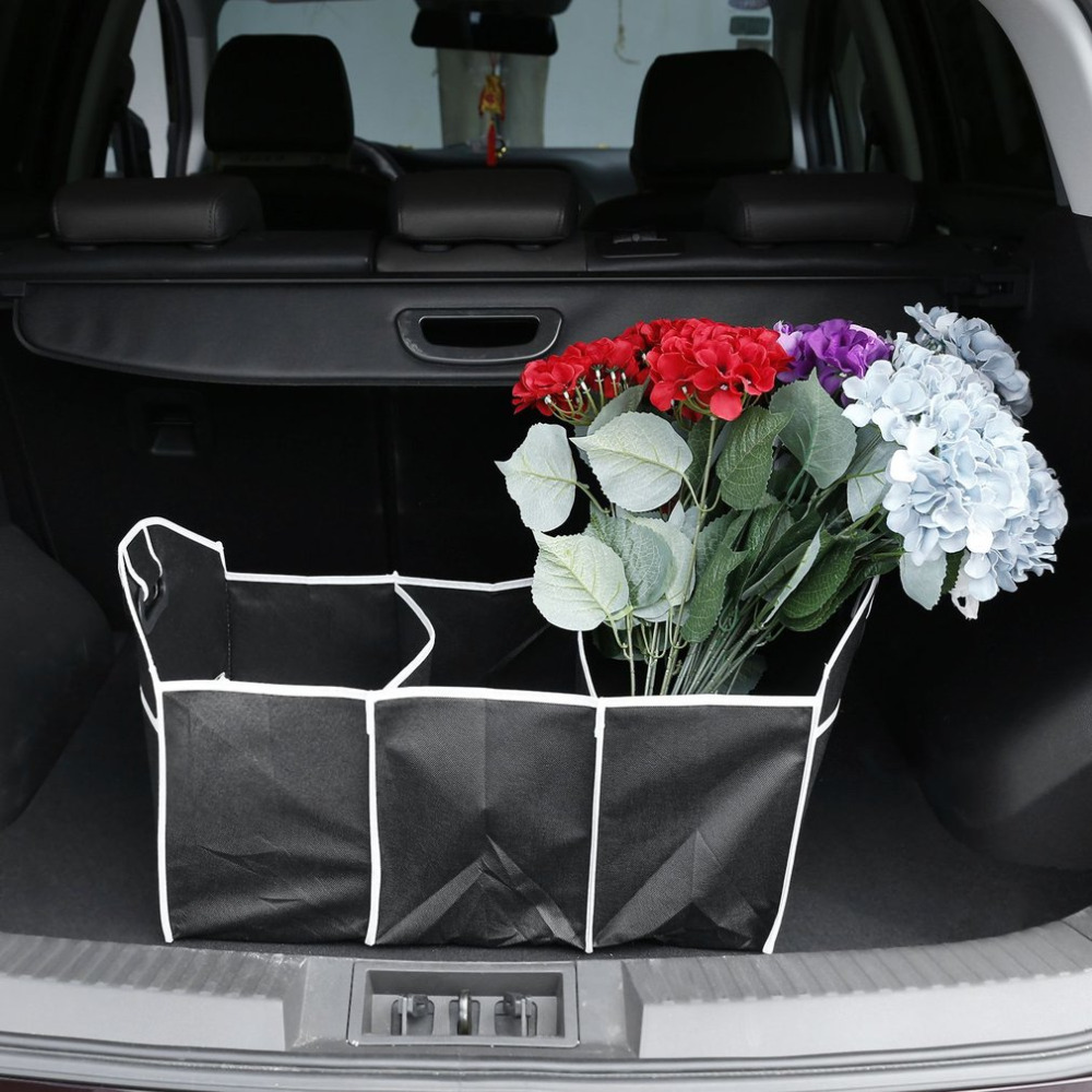 1pc Useful Car Organizer Boot Stuff Food Storage Bags trunk organiser Automobile Stowing Tidying Interior Accessories Foldable