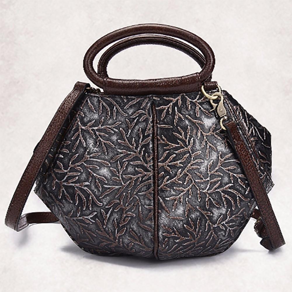ФОТО Women Vintage Handbag Genuine Leather Luxury Tote Bags Casual Cross Body Designer Female Real Cowhide Messenger Shoulder Bag