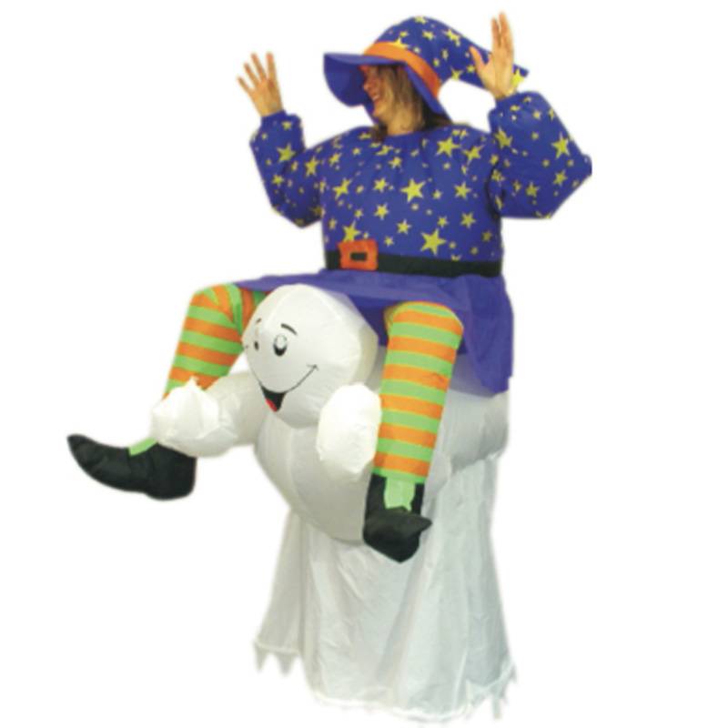 Inflatable Ghost Halloween Costume Evil Pumpkin Santa claus Witch Snowman Costume for Women Party costumes Halloween for Adults