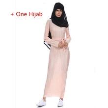 Muslim Long Sleeve Maxi Abaya Dress Solid Color Islamic Clothing Elegant Moroccan Kaftan Robe Turkish Sexy Party Dress Design