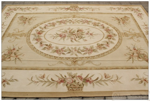 2x3 Wool Hand Woven Shabby Chic Home Decor French Style Aubusson Area Vintage Bedding Rugs
