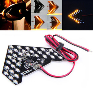 New 33SMD LED Low Consumption High Bright Ultra Long Lifespan Fashion Arrows Panel Car Side Mirror Turn Signal Light 12V#265758