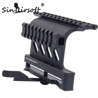 SINAIRSOFT AK Tactical Quick Release QD Lateral Doble Picatinny Rails montaje Alcance Caza Mount Opacidad AK 47/74 MNT-978