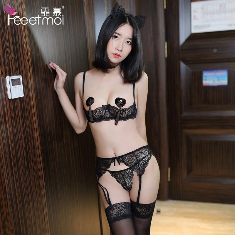 Women Intimates Sexy Lingerie Push Up Bra Porn Exposed -9387