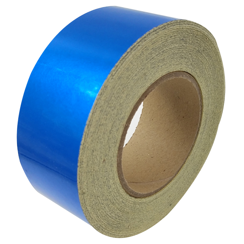 5CM*45M Reflective Tape Safety Warning Sign Body Stickers Blue PET Materials Strips Adhesive Wear-resistant Waterproof