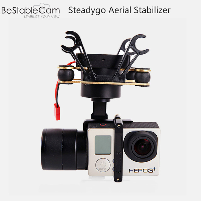 3-Axles Aerial Gimbal for GoPro Hero 3/4 Action Camera Compitable for DJI Phantom similar with zhiyun Tiny2 Stabilizer