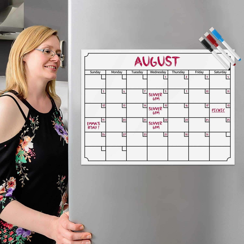 Secret Garden: Magnetic Dry Erase Refrigerator Calendar Week Monthly
