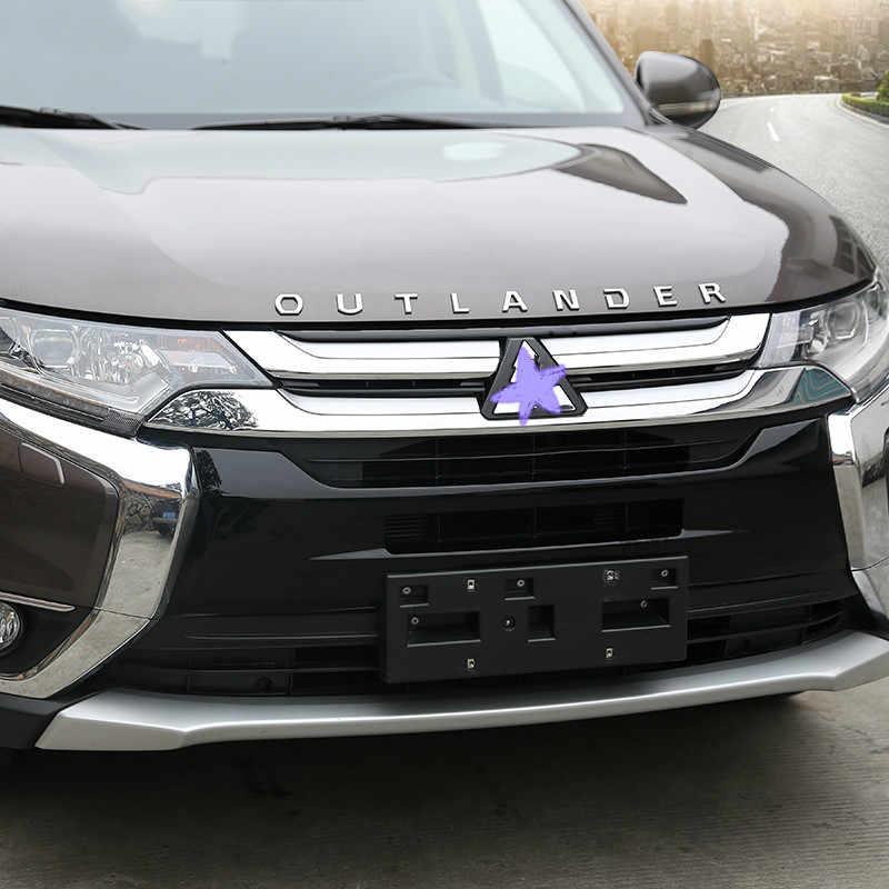 Auto Styling Kap Auto Embleem Cover Sticker Letters Sport Stijl Case accessoires Voor Mitsubishi Outlander 3D Letters Hood Emblem
