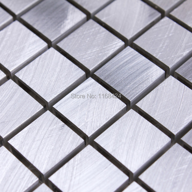 Silber aluminiumlegierung metall mosaik fliesen EHM1060 für küche ...