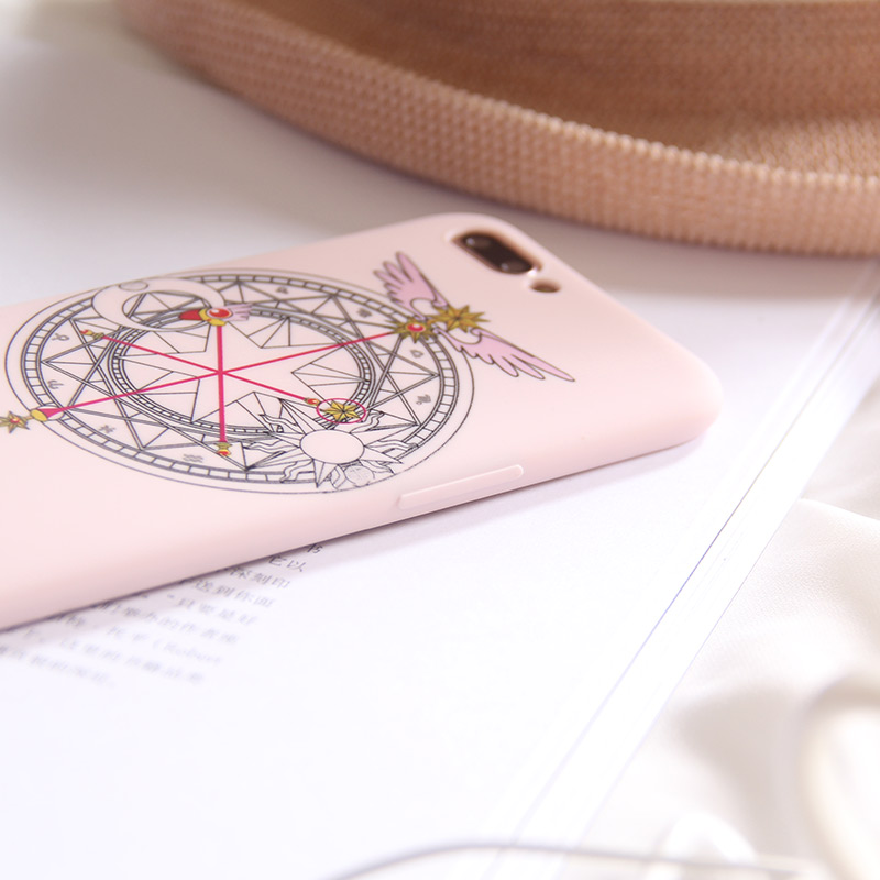 Half-wrapped Case Cute Pink Girl Cartoon Cardcaptor Sakura Magic Wand High Quality Soft Tpu Case For Iphone 6 6s 7 8 X 6p 7p 8plus 10 Cover