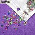 BlueZoo 1000 unids 2 MM 4 MM Colorful Neon Redondo Cuadrado Estrella Espárragos Corazón Clavos de Metal Del Arte Del Clavo de La Decoración DIY metálico 3D Acrílico