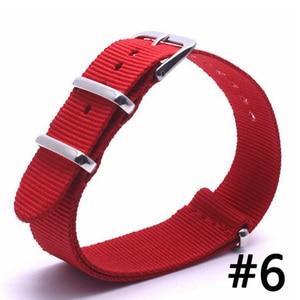 Image 2 - 10PCS 2019 style Nato Strap Watchband Silver Buckle Army Military Nylon Watch Band Bracelet For Watch Bracelet 16 18 20 22 24 MM