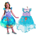 Baby Girl Mermaid Princess Party Dress, Summer Style Baby Clothes, Girls Flower Asymmetrical Dresses, For 3-9Y Girl Costume