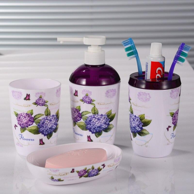 2017 set de baño productos de baño de alta calidad de plástico de tres piezas co