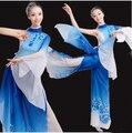 Las Mujeres peonía Chino Tradicional Traje de La Danza Yangko Femenino Traje de la Danza 3 Unids Nacional Grande de La Manga Paraguas Danza Ropa 89
