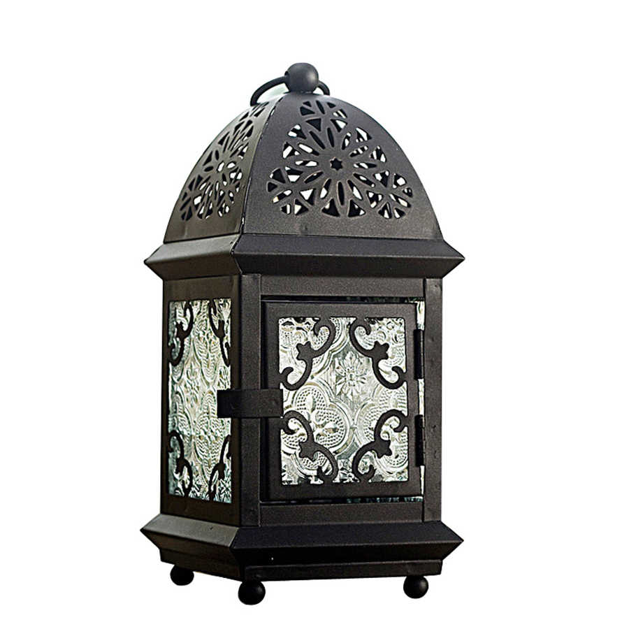 Moroccan Lantern Candle Holders Iron Retro Candlestick Lamp Table Wedding  Lanterns for Decoration Candles Home Decor 50A0021