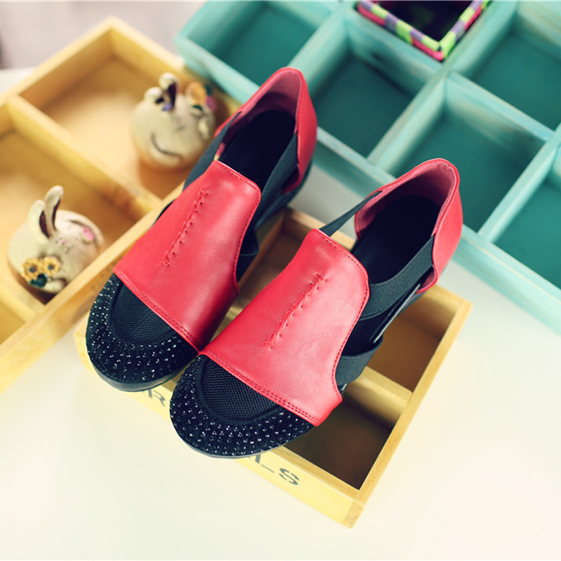 Summer Sandals Women 2018 Lady Yellow Red Shoes Woman Platform Flats Shoes Causal Rhinestone Sandals Roma Female Gladiator Shoes (30)