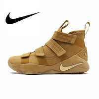Original Authentic Nike LEBRON SOLDIER 11 Men's Basketball Shoes Wear Resistant Shock Absorption Outdoor Sneakers 897647 700