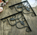 4PCS/LOT  Vintage Iron Shelf Bracket Support With Screws
