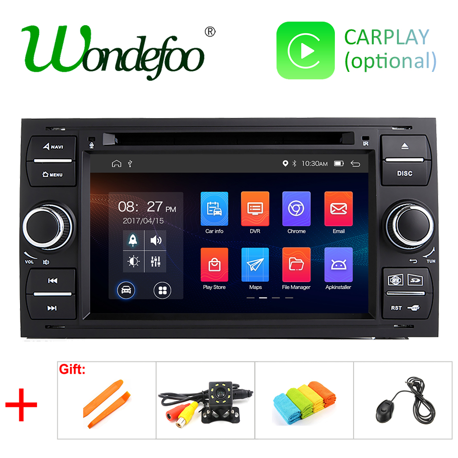 IPS 64G Android 9 0 2 DIN Car DVD PLAYER For Ford Mondeo S max Focus