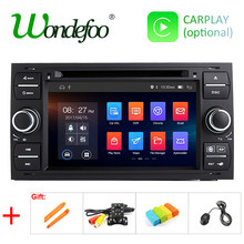 IPS 64G Android 9.0 2 DIN LECTEUR DVD de Voiture Pour Ford Mondeo s-max Focus C-MAX Galaxy Fiesta Forme Fusion Transit Connect GPS STÉRÉO(China)
