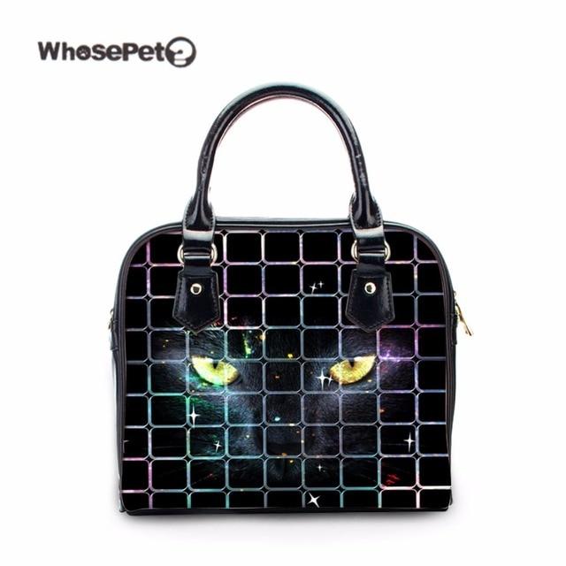 WHOSEPET Puma Black Fashion Women s Tote Storage Bag for Girls Travel  Leisure Handbag Female Shop Online Handbags Casual Satchel bcd1079c1a54b