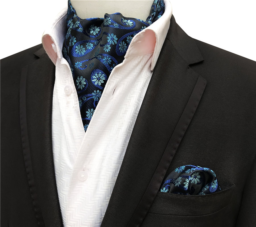 Floral Scarves Popular Fashion Men with Handkerchief-Sets Paisley