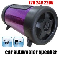 Manufacturers 4 Inch Round Car Subwoofer 12 V Stereo Car Speakers Support TF U Disk MAX