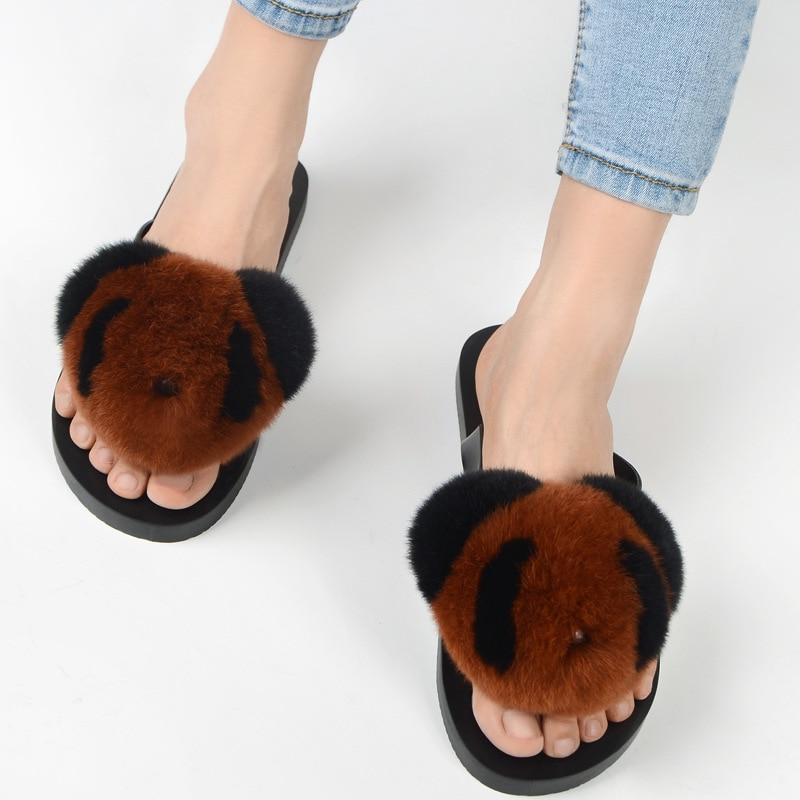 slipper real fur pompom (9)