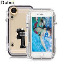 DULCII For iPhone 5s Waterproof Case for iPhone SE 5 Waterproof Cover+Wide Angle Lens+Mount Base Sports Phone Protect Cases