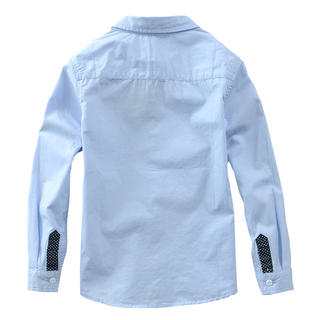 Boys' Casual Plain Cotton Shirt