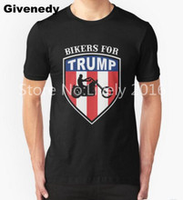 Bikers for Trump 2016 Mens & Womens Print Pattern T Shirt Vintage T Shirt