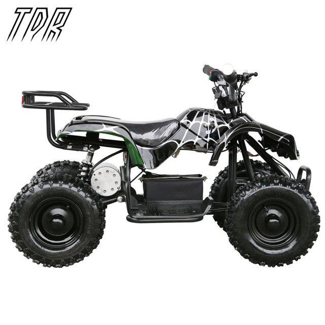 TDR Children 24V 500W Black Electric Ride On Mini Quad ATV Black ...
