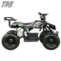 TDR Enfants 24 V 500 W Noir Électrique Tour Sur Mini Quad ATV Buggy Noir Cool Off-route Aller Karts HHY