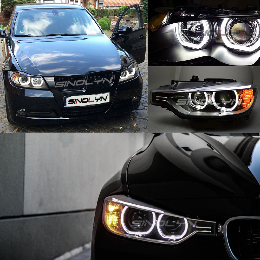 Image 5 - LED Angel Eyes Halo Rings 3D DTM LCI M4 Style For BMW E90 E92 F30 F31 E60 E82 M5 Turn Signal White Yellow Switchback Accessories-in Car Light Accessories from Automobiles & Motorcycles