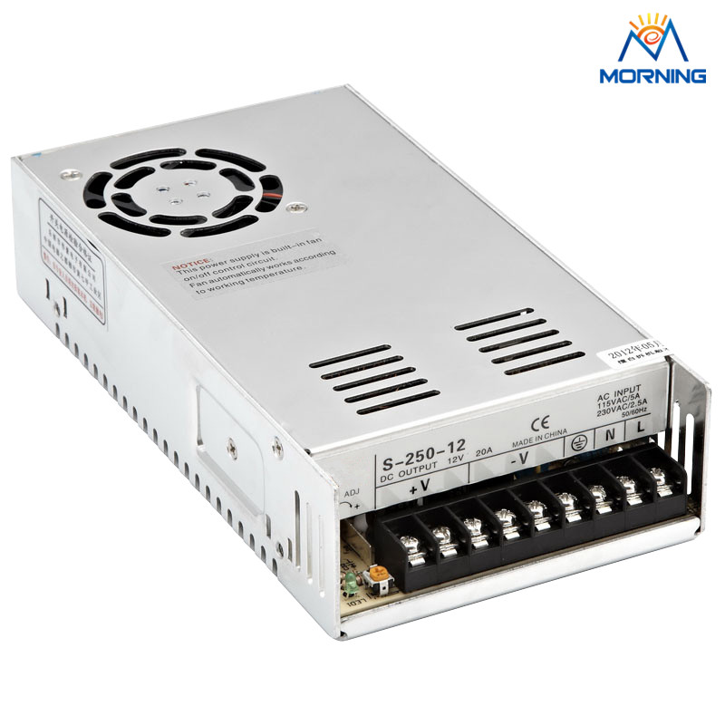 Cooling fan 250W S-250-12 energy-saving switching power supply xtm cooling fan posts rail 6x6mm