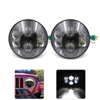 BJGLOBAL 2pcs Lot 7 80w Round LED Hi Lo Projector Headlight 6000K For Jeep Wrangler TJ