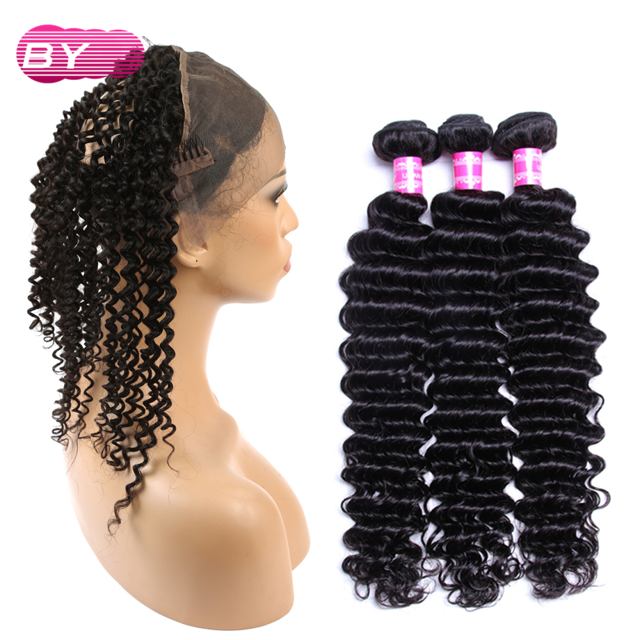 BY Malaysian Deep Wave Non Remy Hair Bundle Pre bleach For Salon Hair Super Low Ratio