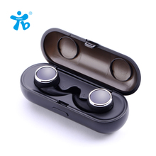 Cheaper Two Earphones and Headphone Mini Bluetooth Earphone With Microphone Twins True Wireless Earphones With Chargeable Store Box