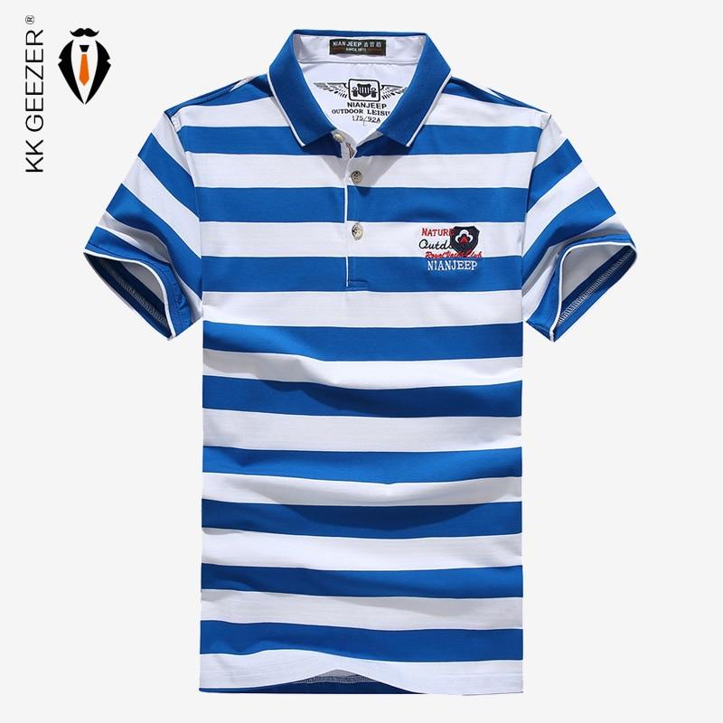 100% QualitäT Männer Polos Hemd Gestreiften Kurzarm Männer Berühmte Marke Neue Top Qualität Klassische Sommer Hombre Casual Baumwolle Büro Kleidung Strukturelle Behinderungen