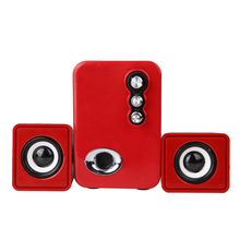 Home Cinéma Parti Ordinateur Loundspeaker USB & 3.5mm Interface Audio Subwoofer 2.1 Multimédia 3D Stéréo Sons Haut-Parleur