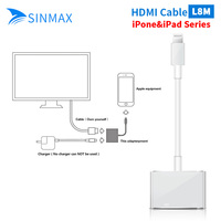 White Light To AV HDMI HDTV TV Digital Cable Adapter For IPhone 6 6plus For IPhone