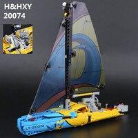 H & HXY EN STOCK 20074 Série Technique Le Yacht de Course Ensemble 42074 369 Pcs LEPIN Blocs de Construction Briques Éducatifs jouets Modèle Cadeaux