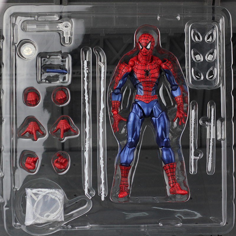 Revoltech Amazing Red Venom Carnage Amazing Captain America Spiderman Magneto Wolverine X-men Action Figures Toy Doll (31)