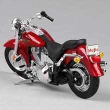 Maisto 1:18 harley red motorcycle diecast 1:18 2004 liten motorcykel modell formgjuten motorcykel leksak med original låda 39360