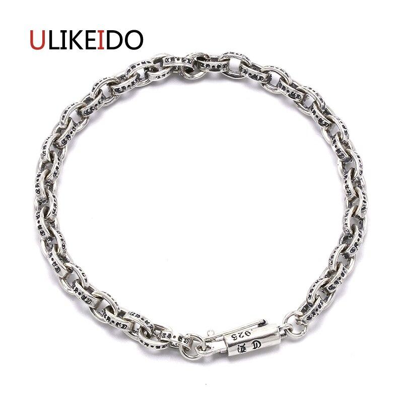 925 Silver Restoring Ancient Ways Is Thai Silver Peace Lines Men S Bracelet Silver Bracelet Couples