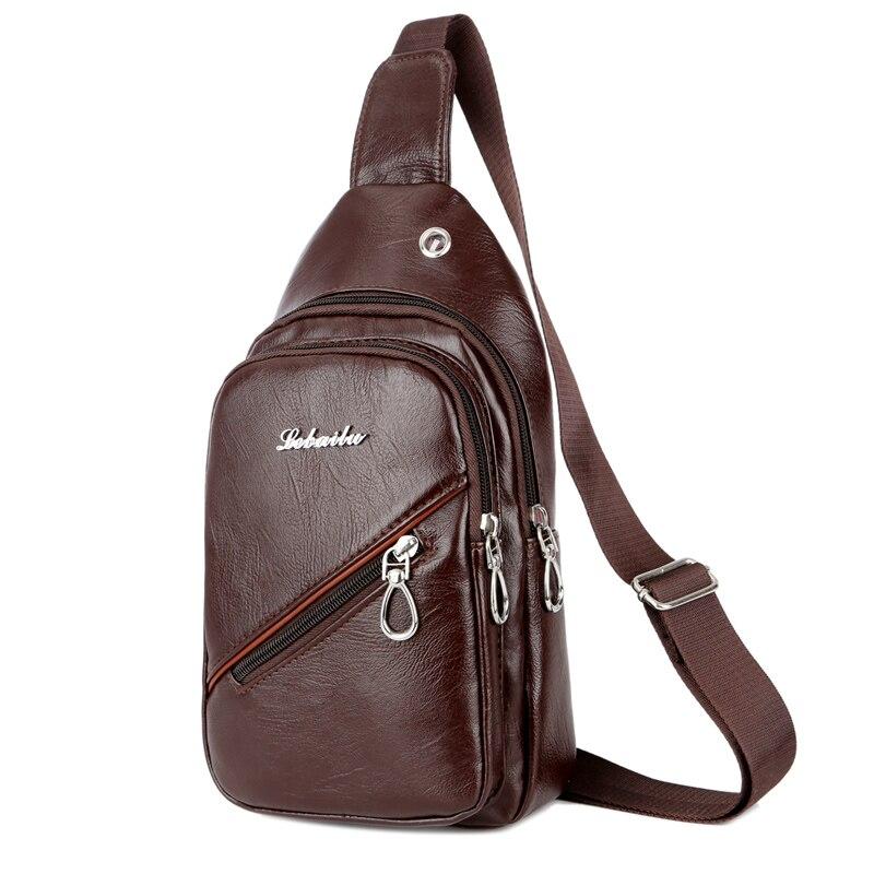 2019 Casual Messenger Tasche Männer Brust Pack Einzelner Schulter Strap Zurück Taschen Pu Leder Reise Männer Umhängetaschen Vintage Brust Tasche SorgfäLtig AusgewäHlte Materialien